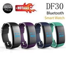 Виды Летние Тренировки 0.66 OLED Bluetooth Smart Watch DF30 GSM чсс Smartwatch Водонепроницаемый Браслет Для Android iphone iOS