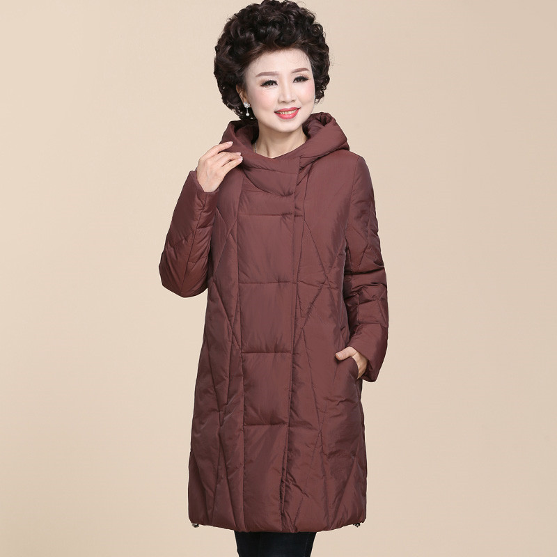 Winter Middle Aged Hooded Cotton Padded Jacket Women Large Size 5XL Thicken Long Parka Female Warm