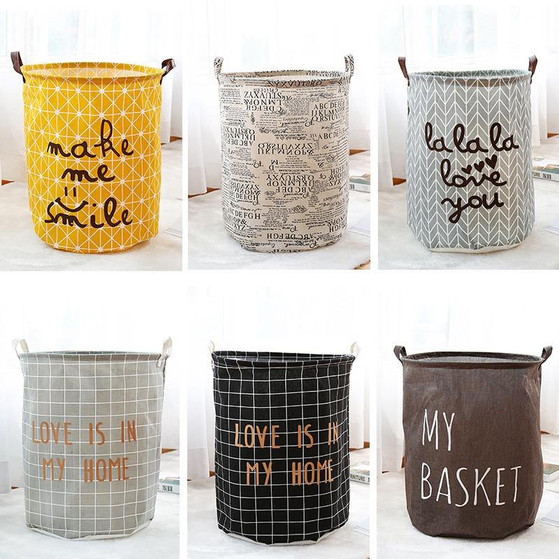 Large Laundry Basket Toy Storage Eco-Friendly Picnic Box Handle Stackable Barrel