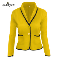 Xian You Women Suit Short Autumn Long Sleeve Womens Suites Womens Blazers Slim Full Solid Elegant