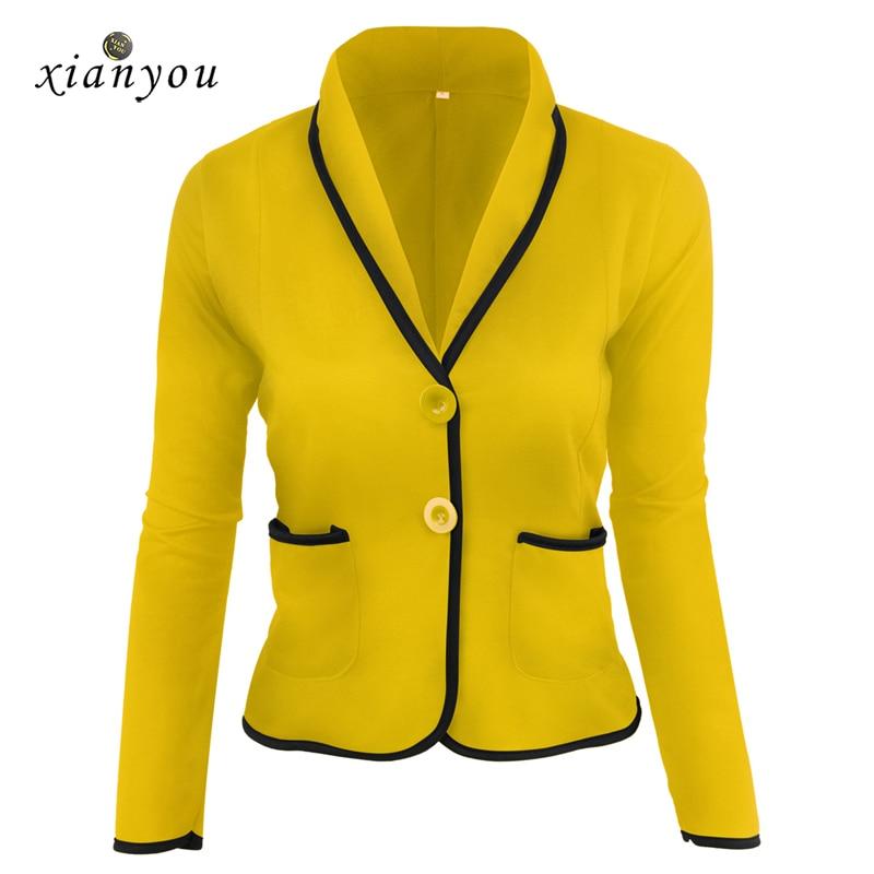 Xian you women Suit short autumn long sleeve womens Suites womens Blazers Slim full solid elegant party Casual fashion plus size