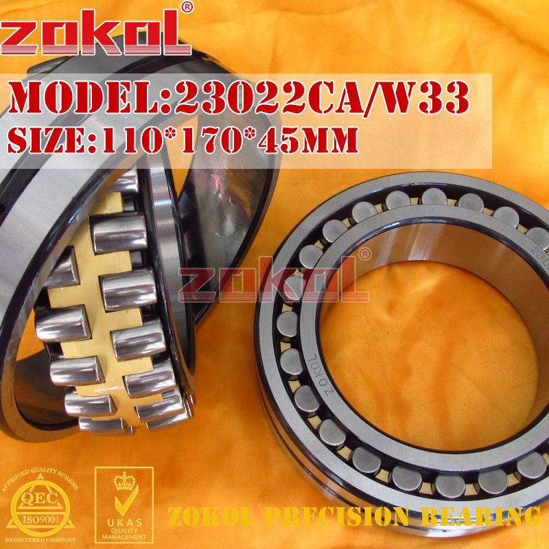 ZOKOL bearing 23022CA W33 Spherical Roller bearing 3053122HK self-aligning roller bearing 110*170*45mm mochu 22213 22213ca 22213ca w33 65x120x31 53513 53513hk spherical roller bearings self aligning cylindrical bore