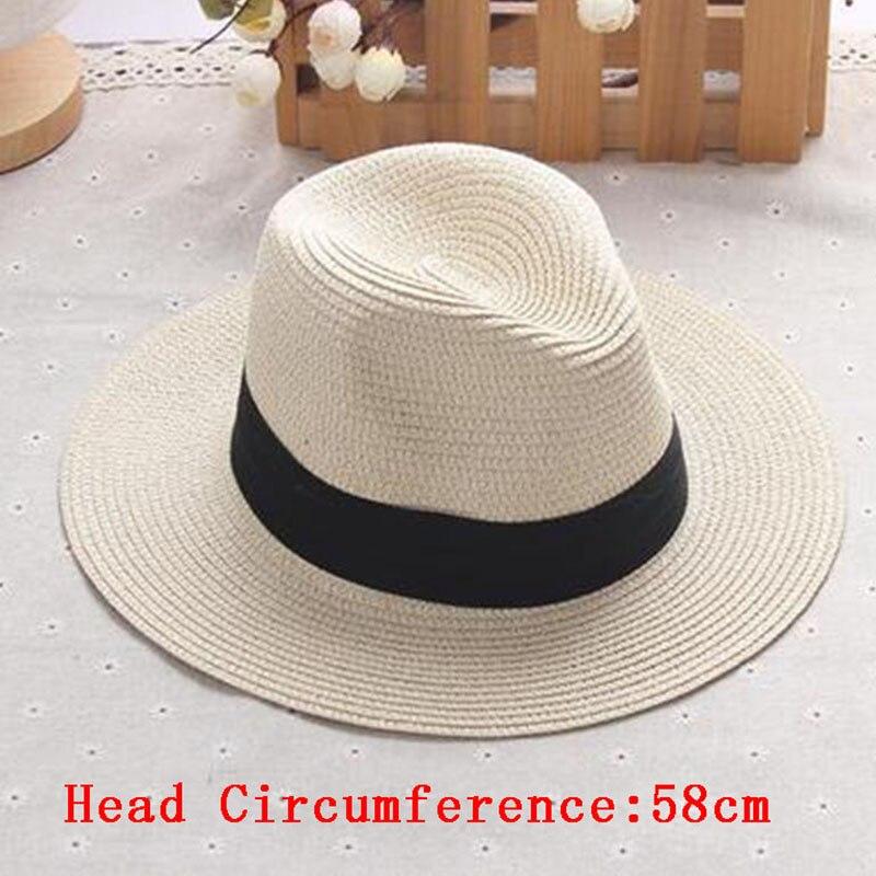 762eb3ed2f4e5 Ladies Beach Hat Men Wide Brim Straw Panama Roll up Hats Sea Sun Caps Golf  Summer Female Jazz Visor Cap Outdoor Camping Vacation-in Beach Caps from  Sports ...