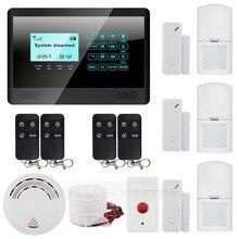 DIYSECUR 433 MHz Sensor Wireless GSM SMS TEXT Home House Alarm System LCD Screen House Intruder Voice 850/900/1800/1900MHz