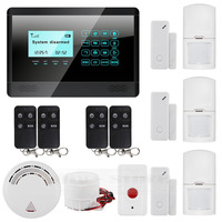 433 MHz Sensor Wireless GSM SMS TEXT Home House Alarm System LCD Screen House Intruder Voice