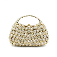 High Quality Handbags Women Famous Brands For Wedding Party Evening Bags Small Purse Full Rhinestones Bags