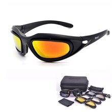 SAIYU C5 Tempestade No Deserto 4 Lente Óculos de Proteção Do Exército Esportes Ao Ar Livre caça Óculos De Sol Anti UVA UVB Polarizada X7 Jogo de Guerra Motocicleta Glasse