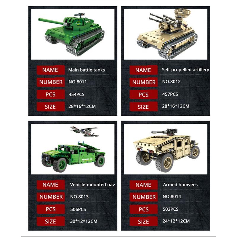 Qihui Military Theme German Tank Model Building Blocks Remote Control RC Army Tank WW2 Vehicles DIY Enlighten Bricks Toy For Kid in Blocks from Toys Hobbies