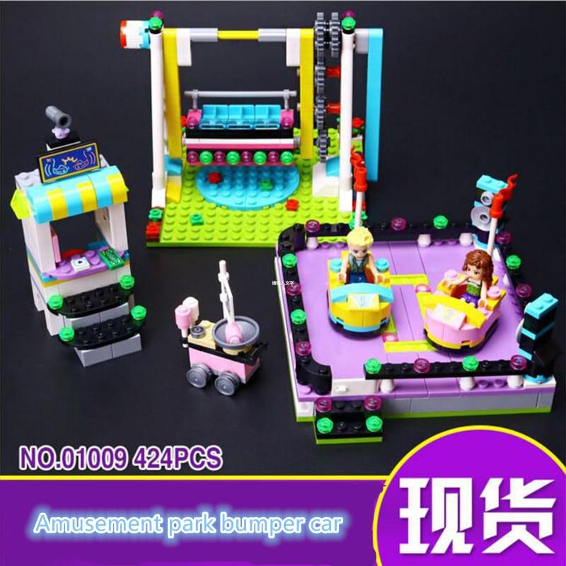 01009 Friends Bumper Cars Amusement Park Minifigures Building Block 100% Compatible with Toy Christmas Gifts m403