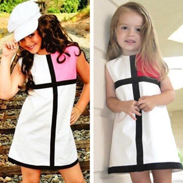 f4ec08604fb Fille robe d été style décontracté vêtements pour enfants populaire enfants  robes pour filles hot
