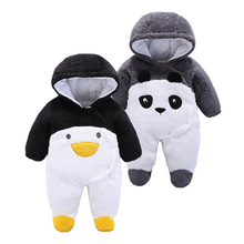 2018 autumn winter baby Clothes newborn jumpsuit infant cotton thick overalls baby warm rompers penguin animal
