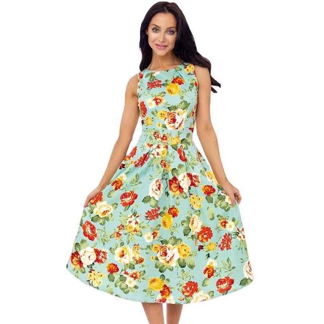 Vestido S Chic Herfst Swing Jurken Vintage Zomer 2016 Mode 50 Party UMjqpGVSzL