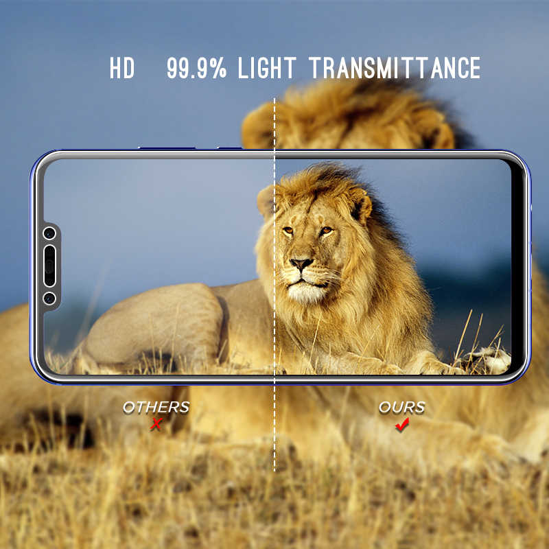 9 H Tempered Glass untuk Huawei Kehormatan 8X Max 8C 8 9 Lite Catatan 10 V10 V9 Layar Bermain keras Kaca untuk Kehormatan 8X Max 8C Magic 2 Kaca