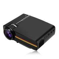 YG400 Portable LCD Projector 1200Lm LCD Video TV Movie Home Theater 1080P LCD Projector With Remote