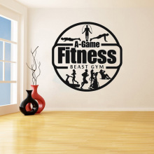 YOYOYU Beast GYM Remove Vinyl Decorative Wall Sticker Fitness Man Decal Fitness Center Bedroom Home Decoration Art Poster ZX406 cartoon chemist man wall sticker decal chemist sticker home bedroom decoration a00353