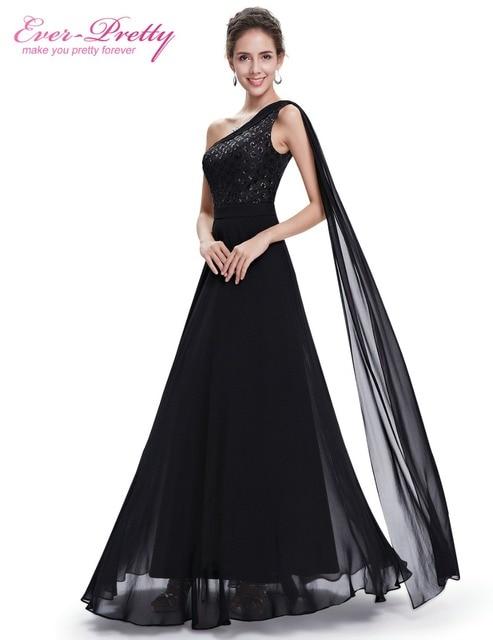 9ff49ce02 Vestido Siempre Pretty HE08614 Negro Mujeres de Noche Formal Elegante  Vestido De Festa Longo Vestido Largo
