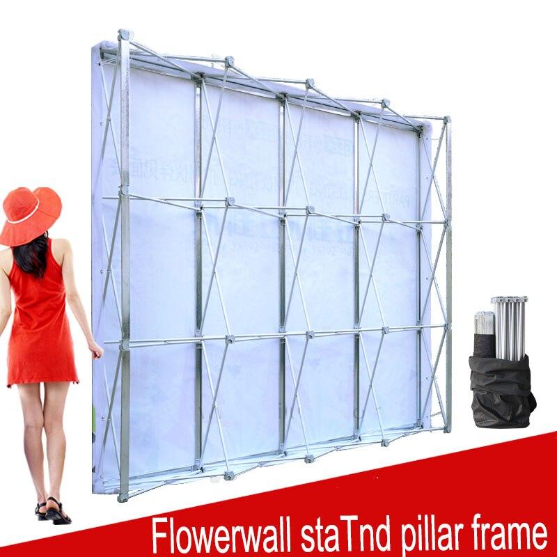 En aluminium Fleur Mur Pliant Stand Cadre pour le Mariage Décors Droite Exposition Bannière D'affichage Stand Commerce Publicité Spectacle