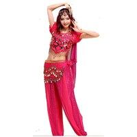 Trang Phục Múa bụng (Bellydance Áo Ngực + Shiny Váy) Bollywood Trang Phục Múa 8 màu sắc Nhảy Múa Mang Đảng Dress Miễn Phí vận chuyển Tribal