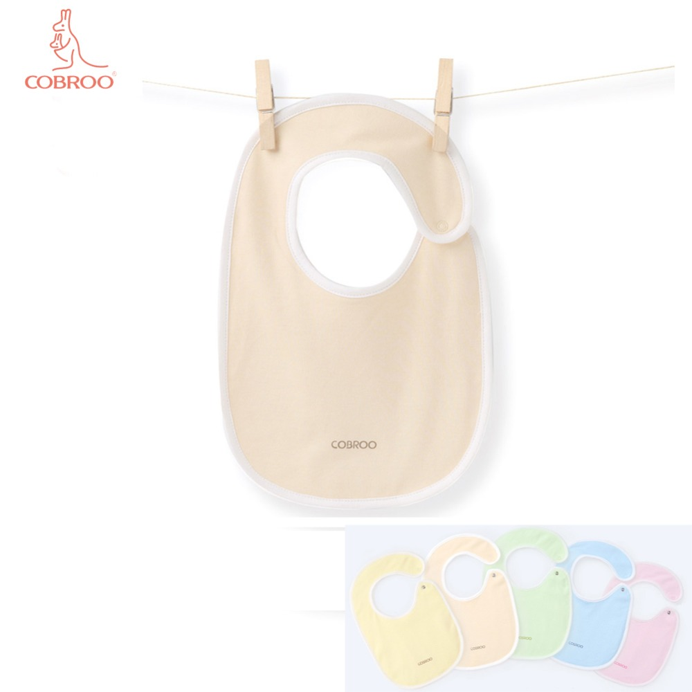 COBROO Baby Bibs in Solid Color Unisex-Baby 100% Cotton Burp Cloths 0-3-6 Months