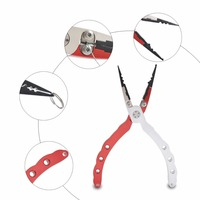 New Aluminum Alloy Fishing Pliers Split Ring Cutters Fishing Holder Tackle With Sheath Fishing Lip Grips