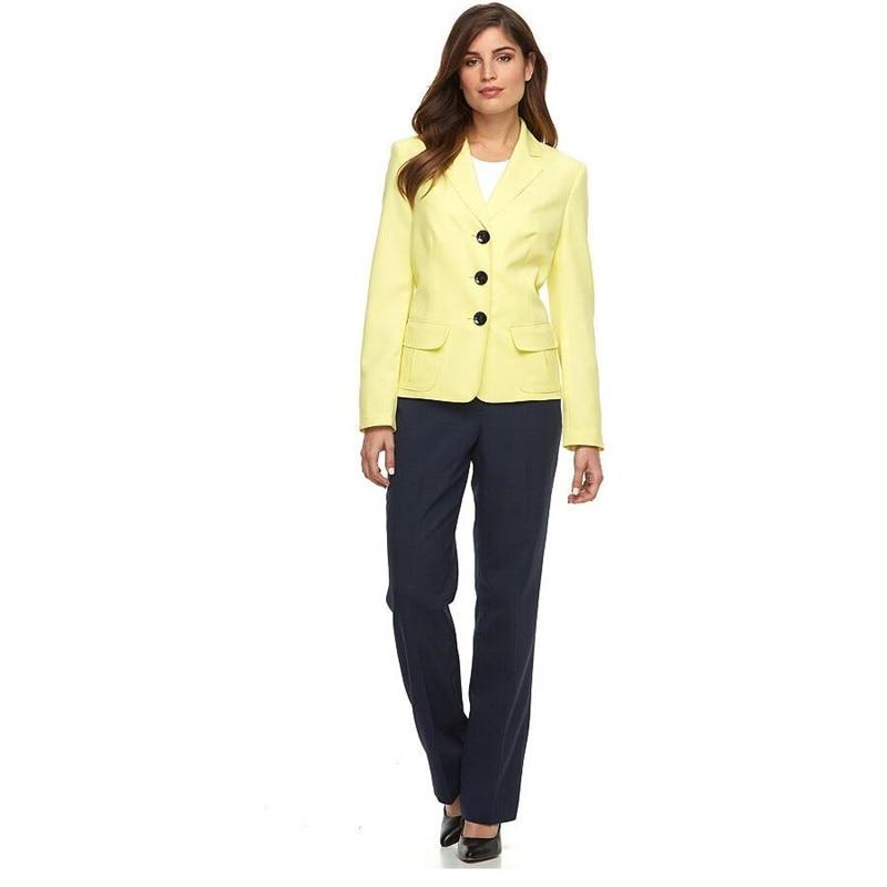 New Design Elegant Women Work Suit Uniform Hotel SPA Beauty Salon Front Desk Solid Work Wears Top And Pants Suit