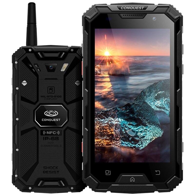 Conquest S8 font b Smartphone b font Waterproof 5 0 IPS Android 7 0 MTK6753 Octa