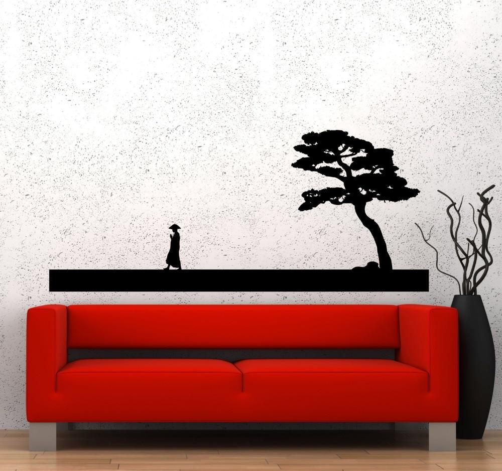 Wand Aufkleber Chinesischen Stil Vinyl Aufkleber Mann Und Baum Asiatischen  Orientalischen Schlafzimmer Wohnzimmer Dekoration Haus Zubehör WW 136 In  Wand ...