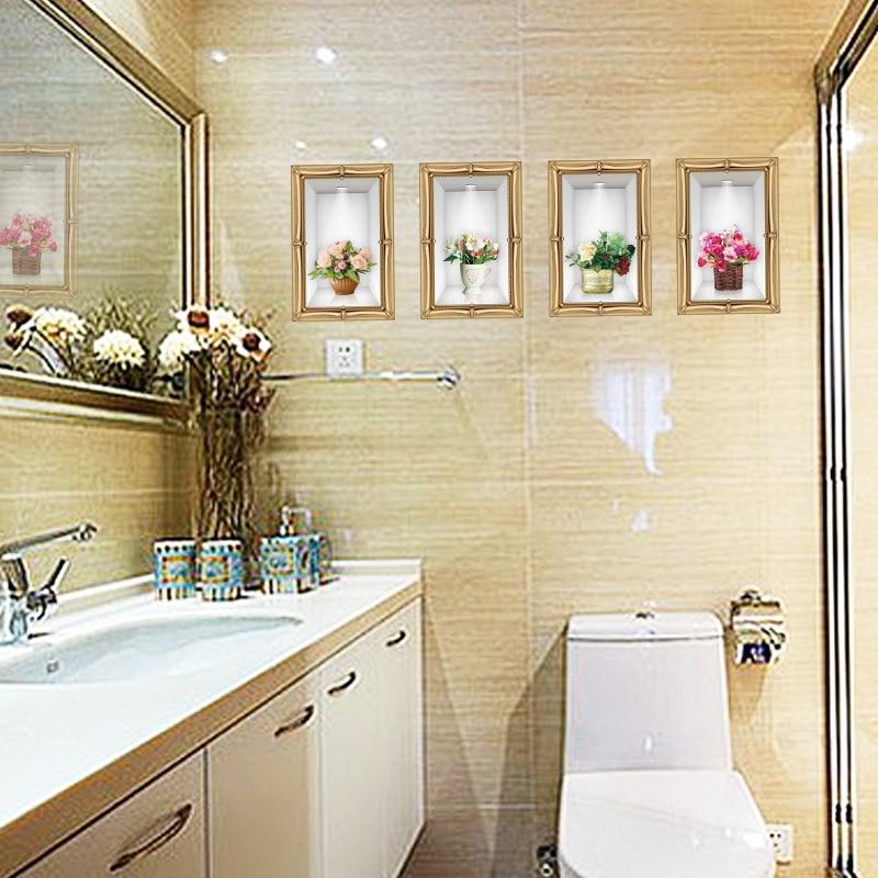 Three Dimensional Vase Wall Sticker DIY Home Decor Living Room Wall ...