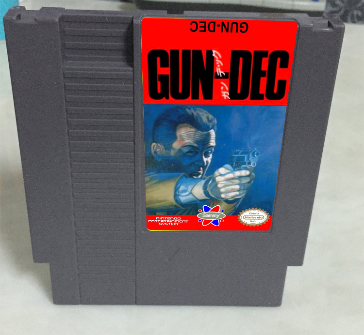 Gun-Dec Game card 72pin 8 bit Game cartridge Drop shipping!