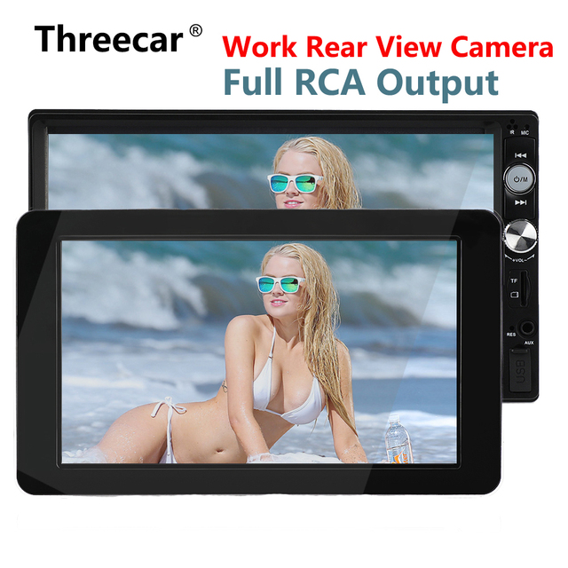 1024x600 9 'الترا رقيقة TFT LCD المخده دي في دي شاشات HD إدخال الفيديو راديو AV لمراقبة السيارات الصوت الروبوت مشغل ديفيدي الخلفية كاميرا