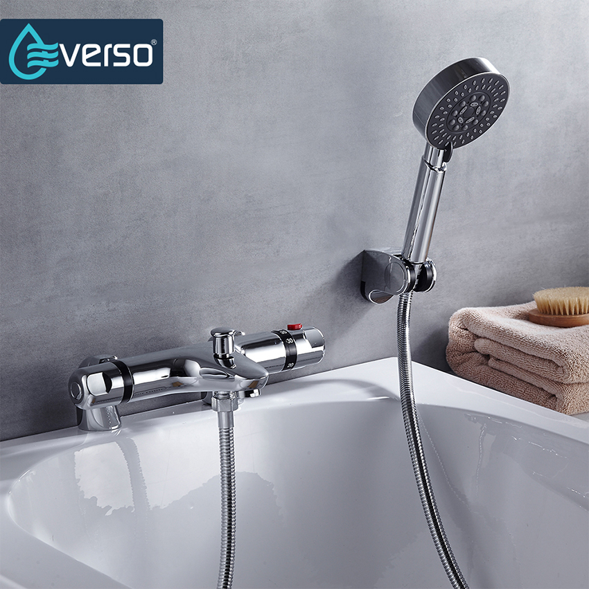 Hot Sale! Wall Mounted Chrome Single Handle Shower Faucet Bath Faucet Mixer Tap With Hand Shower Head Shower Faucet Set china sanitary ware chrome wall mount thermostatic water tap water saver thermostatic shower faucet