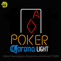 NEON SIGN For Corona Light Poker Squver Ace Coors Light Cardinals Bowling Coors Cards Love Real