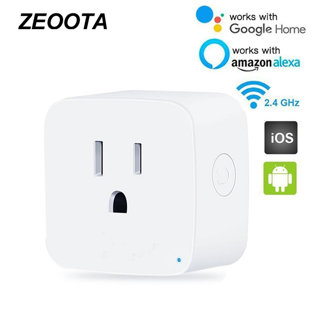 Wifi Outltes Smart Electric Us Plug Socket Adapter Remote Timer Control Work With Alexa And Google Home