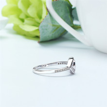 Devil's Eye Ring Chic AAA Zircon Punk Party Rings For Women White Gold Color