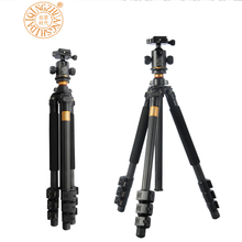 QZSD Q472 Professional Photographic carbon tripod Fixed carbon fiber portable camera tripod digital SLR photography Camera Stand
