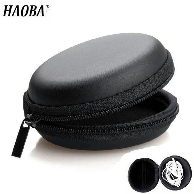HAOBA イヤホン収納ハード袋ボックスケースイヤホンヘッドホンアクセサリーイヤフォンメモリカード USB ケーブル