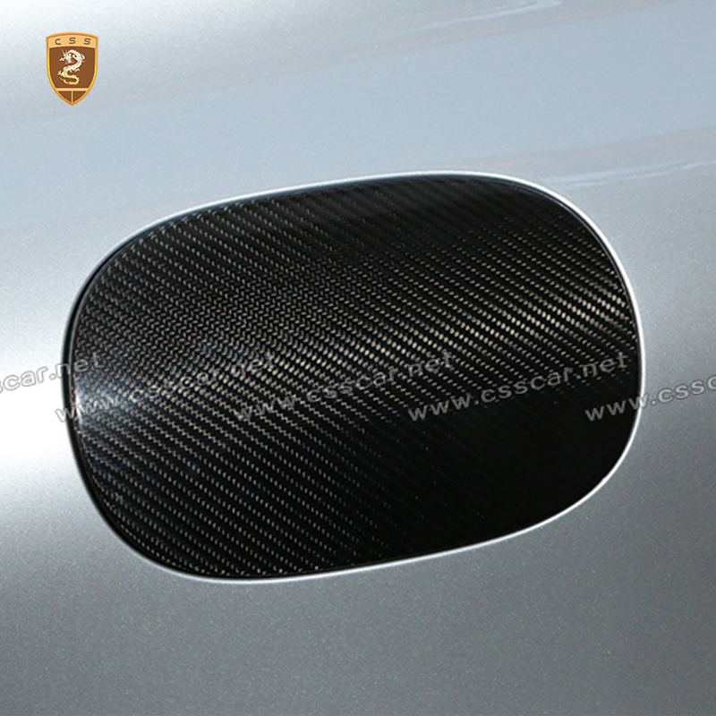 Car Styling Carbon Fiber Gas Tank Cap Cover Trim for Maserati Ghibli 2014-2017