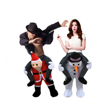 unisex novelty carry me Ride on Santa Claus Christmas costume Animal Funny Dress Up Fancy Pants Novelty Mascot costume snowman