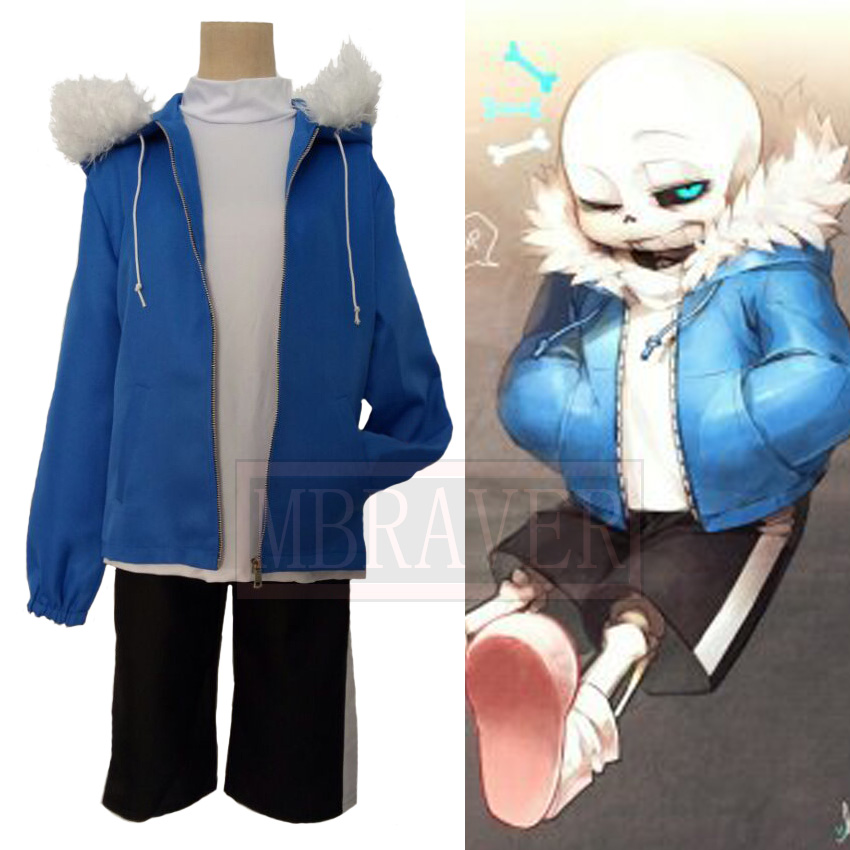 Undertale Sans Cosplay Costume Halloween Uniform Outfit Cosplay Costume Customize Any Size