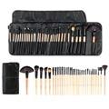 Madera 32 Unids Pinceles de Maquillaje profesional Kit de Cosméticos Make Up Set + Bolsa de la Caja
