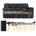 Professional Wood 32Pcs Makeup Brushes Kit Cosmetic Make Up Set + Pouch Bag Case