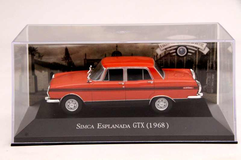 IXO Altaya 1:43 Scale Simca Esplanada GTX 1968 Car Diecast Toys Models Limited Edition Collection Orange
