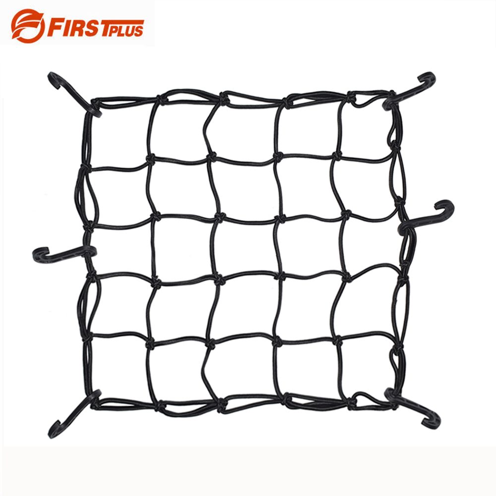 40x40cm Motorcycle Oil Tanker Cargo Net Featuring 6 Adjustable Hooks Motorcross Helmet Luggage Holder Mesh Cover Black Blue Red
