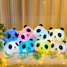Купить с кэшбэком Cushions Home Decor Funny Pillows On The Sofa Seat Cushion Hug Panda Plush Glow Stuffed Animals Plush Home Decor Decoration