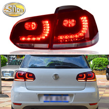 цена на For Volkswagen VW Golf 6 2009-2012 Golf mk6 Tail Lamp Rear Lamp DRL+Brake+Park+Signal Car Styling Tail light Accessories