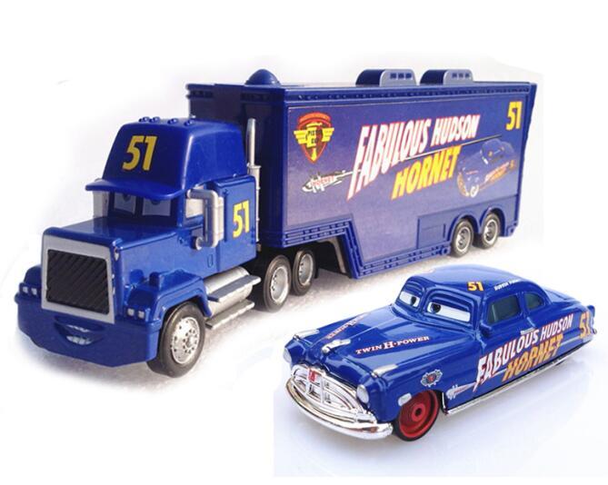 Дисней Pixar Тачки 2 3 игрушки Молния Маккуин Джексон шторм мак грузовик 1:55 литая под давлением модель автомобиля для детей рождественские подарки - Цвет: Two cars 10