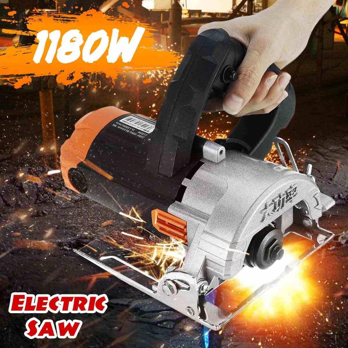 """נייד מכונת חיתוך 1180W חשמלי מסור מנועים 110mm להב 13000 סל""""ד במהירות גבוהה עץ מתכת חוט מסור קרמיקה אריח השיש כלי"""