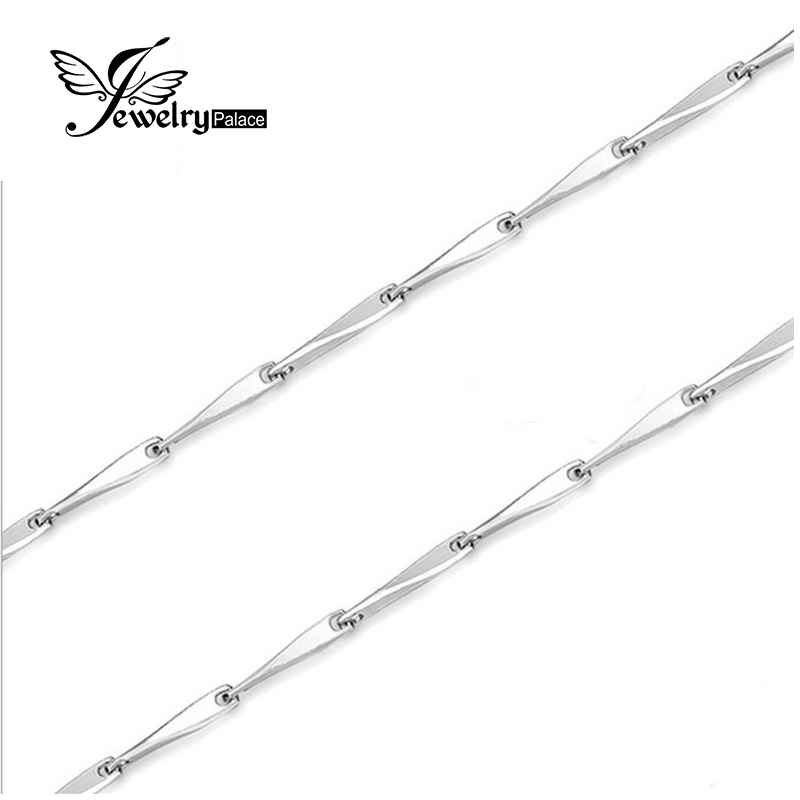 Jewelrypalace New Seed Necklace Chain Wholesale Price Pure 925 Solid Sterling Silver 40 cm 45 cm