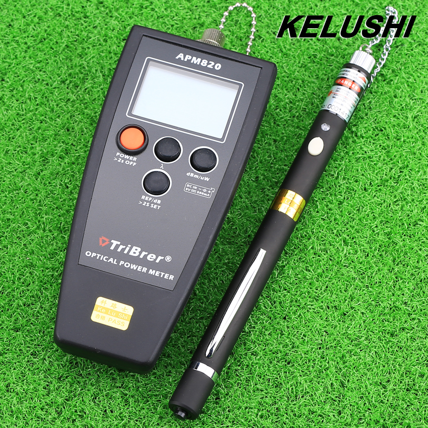 KELUSHI Optical Fiber Tools Optic Power Meter 10mW visual fault locator red laser light source FTTH