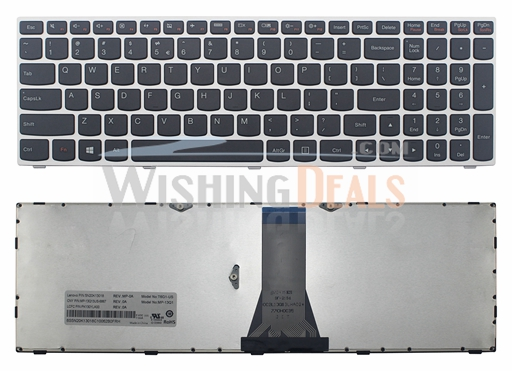 100% Genuine New for Lenovo IdeaPad 300-15ISK 300-15IBR US English keyboard with Silver frame
